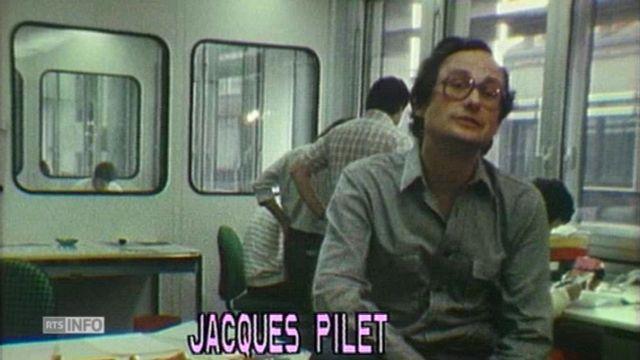 """""""Nous avons l'espoir de faire un bon magazine"""", disait Jacques Pilet lors de la création de L'Hebdo [RTS]"""