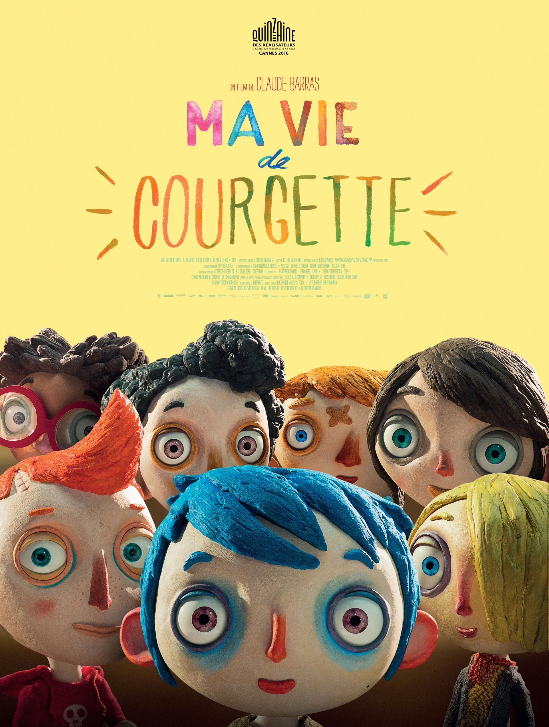 "L'affiche officielle du film ""Ma vie de Courgette""."