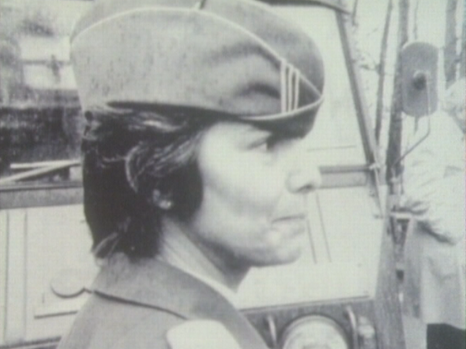 Mariette Paschoud, capitaine au Service complémentaire féminin. [RTS]