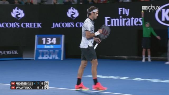 Open d'Australie, 1-2 finale: Roger Federer (SUI) - Stan Wawrinka (SUI) 7-5 6-3 [RTS]