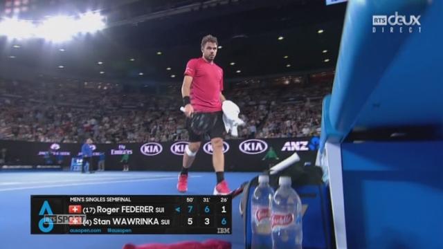 Open d'Australie, 1-2 finale: Roger Federer (SUI) - Stan Wawrinka (SUI) 7-5 6-3 1-6 [RTS]