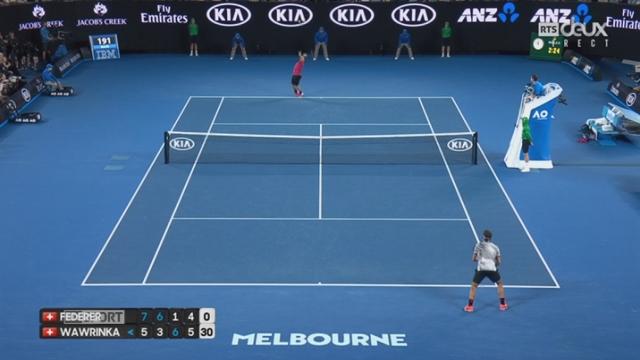 Open d'Australie, 1-2 finale: Roger Federer (SUI) - Stan Wawrinka (SUI) 7-5 6-3 1-6 4-6 [RTS]