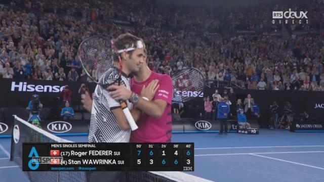 Open d'Australie, 1-2 finale: Roger Federer (SUI) - Stan Wawrinka (SUI) 7-5 6-3 1-6 4-6 6-3 [RTS]