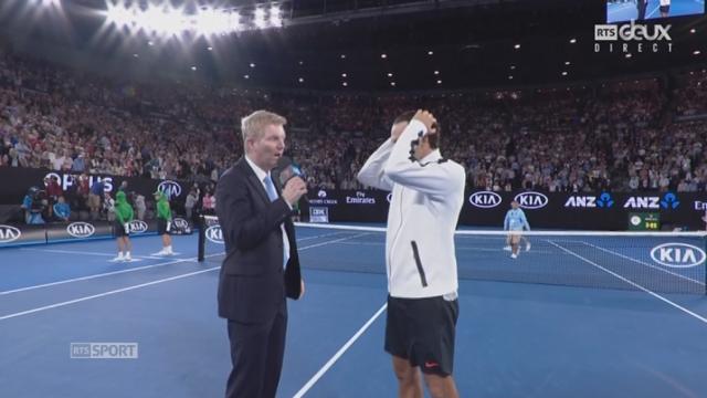 Open d'Australie, 1-2 finale: Roger Federer (SUI) - Stan Wawrinka (SUI) 7-5 6-3 1-6 4-6: interview de Federer après la rencontre [RTS]
