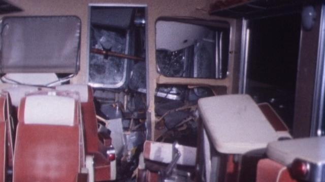 Collision entre un train Flèche rouge et un omnibus à Schmitten, 30 janvier 1977. [RTS]