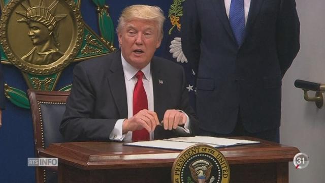 Trump bloque par décret l'arrivée de ressortissant de 7 pays musulmans [RTS]