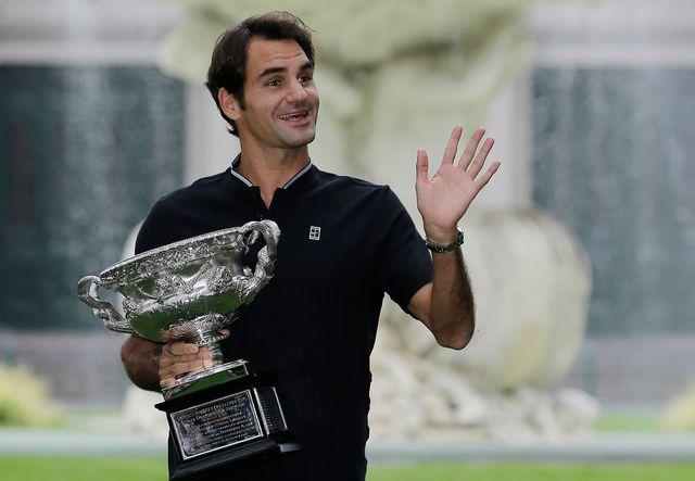 Roger Federer n'a dormi qu'une heure. [Aaron Favila - Keystone]