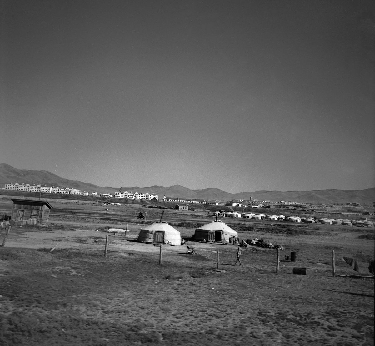 Vue d'Oulan Bator (Mongolie extérieure), en 1965.