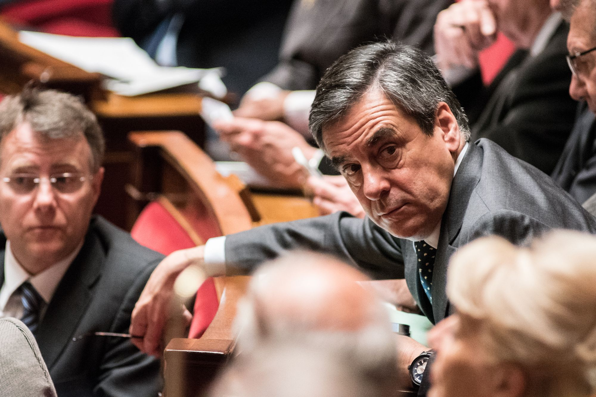 François Fillon, durant une session parlementaire à l'Assemblée nationale en avril 2016.