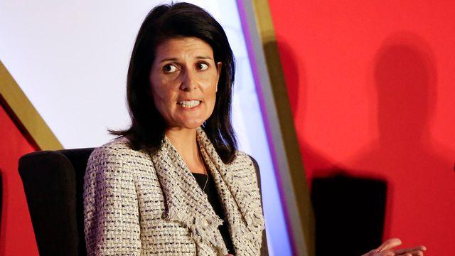 Nikki Haley, gouverneure de Caroline du Sud, est élue ambassadrice américaine auprès des Nations unies. [John Raoux - Keystone]
