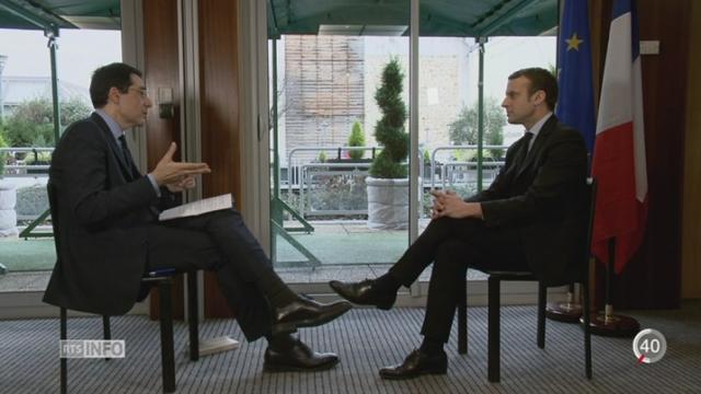 France - Elections présidentielles: l'interview d'Emmanuel Macron [RTS]