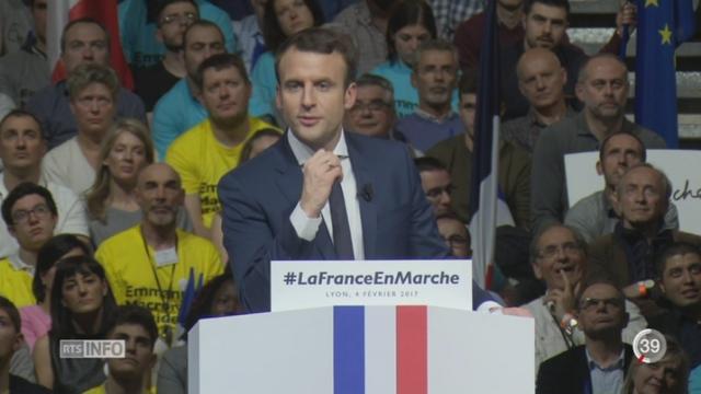 France: coup de projecteur sur le meeting d'Emmanuel Macron à Lyon [RTS]