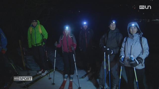 Le ski de randonnée en pleine nuit est une nouvelle tendance [RTS]