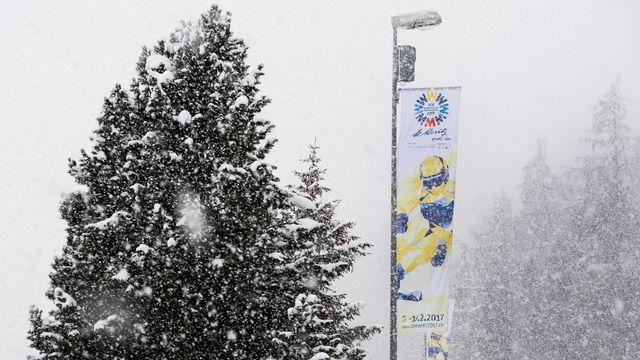 St-Moritz va vibrer au rythme des Mondiaux de ski pendant 15 jours. [Jean-Christophe Bott - Keystone]