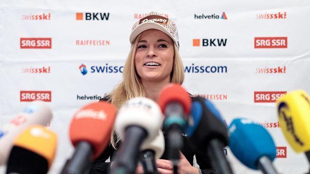 Lara Gut n'aborde pas les Mondiaux de ski dans les meilleures conditions. [Johann Groder - Keystone]