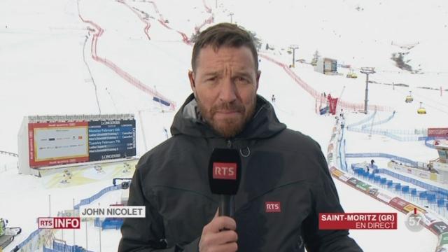 Ski-Championnats du Monde de St-Moritz: le point avec John Nicolet à Saint-Moritz [RTS]