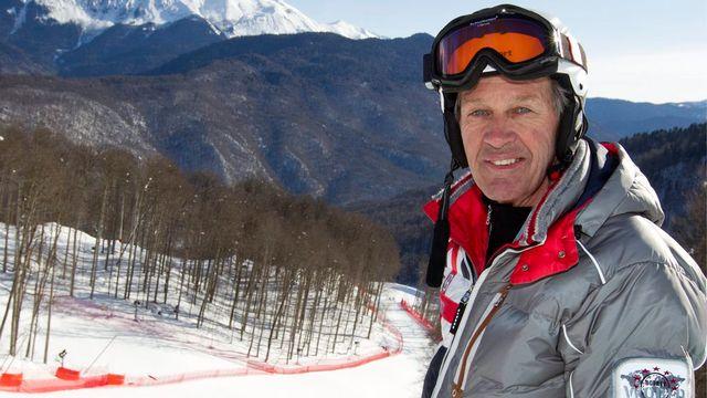 "Bernhard Russi ""dessine"" les pistes olympiques depuis 1988. [Alessandro Della Bella - Keystone]"