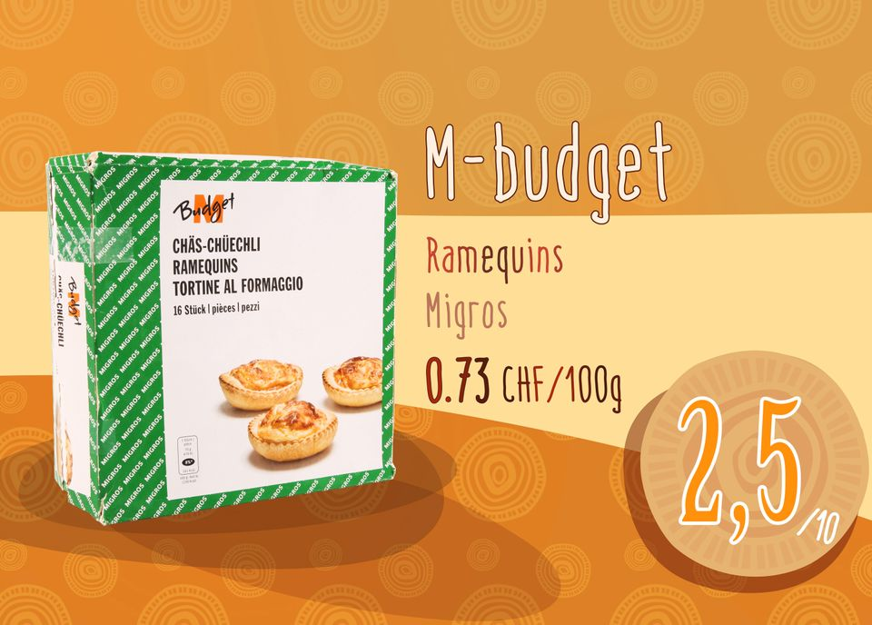 Ramequins M-budget - Migros. [RTS]