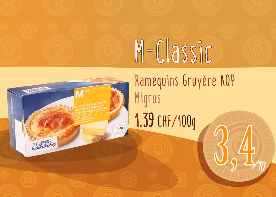 Ramequins Gruyère AOP - M-Classic - Migros. [RTS]