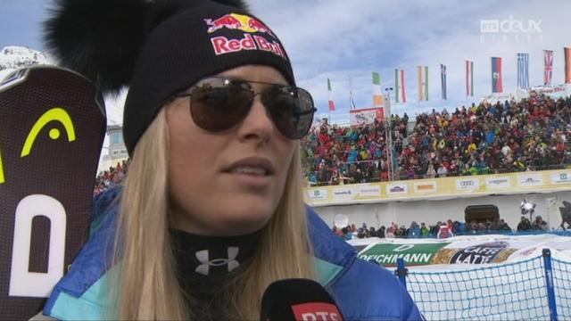 Mondiaux de St-Moritz, Super-G: l'Interview de Lindsey Vonn (USA) [RTS]
