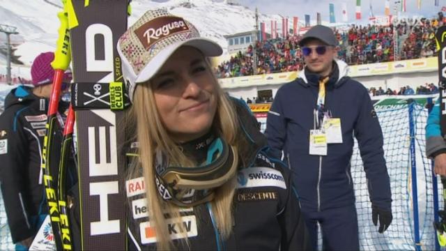 Mondiaux de St-Moritz, Super-G: l'interview de Lara Gut après sa 3e place [RTS]