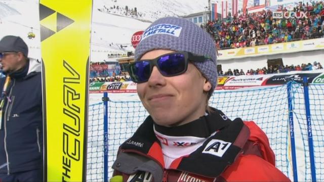 Mondiaux de St-Moritz, Super-G: l'intwerview de la gagnante Nicole Schmidhofer (AUT) [RTS]