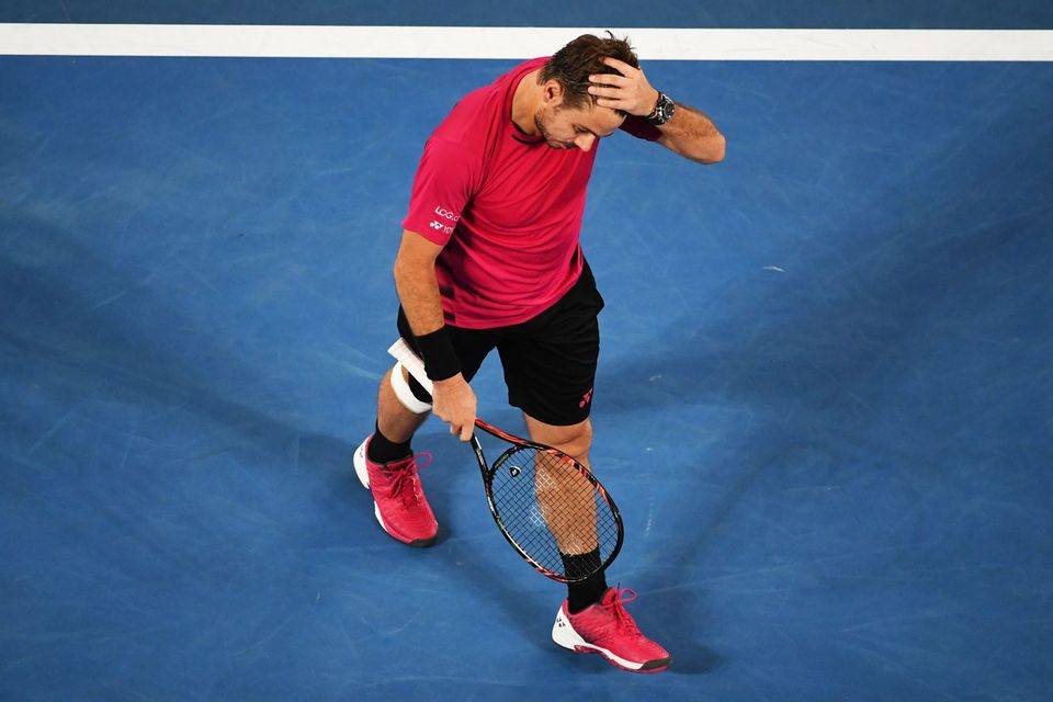 Stan Wawrinka a gardé des séquelles de son tournoi australien. [Dean Lewins - Keystone]