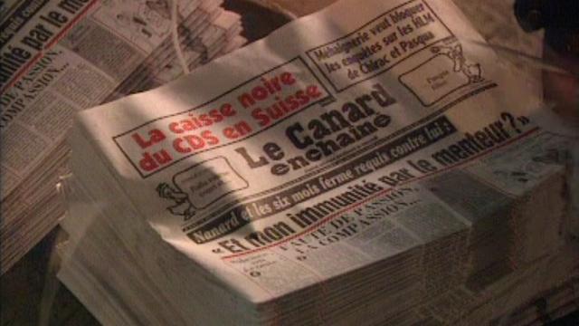 Le Canard enchaîné sort de presse en 1995. [RTS]
