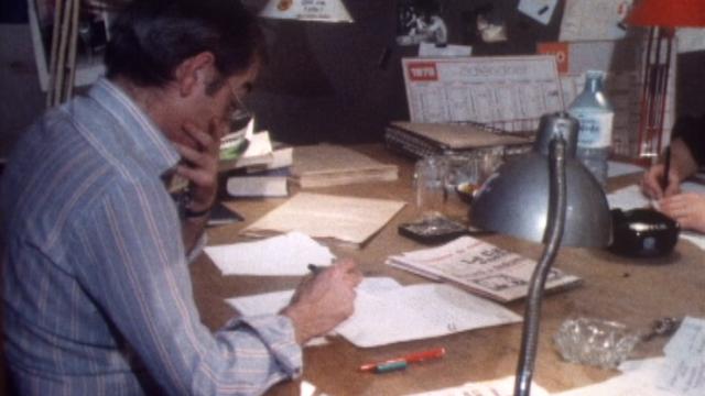A la rédaction du Canard enchaîné en 1979. [RTS]