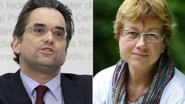 Olivier Feller et Anne Baehler Bech. [Keystone/CSP Vaud]
