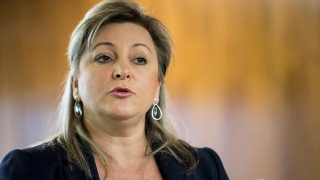 La conseillère d'Etat vaudoise Nuria Gorrite. [Jean-Christophe Bott - Keystone]