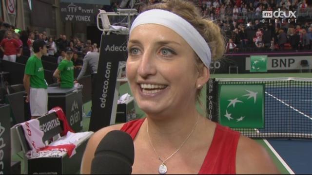 L'interview de Timea Bacsinszky après sa victoire [RTS]