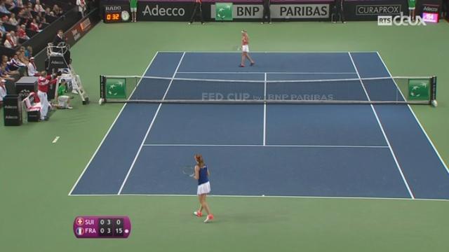 Tennis - Fed Cup: 1-1 entre la Suisse et la France [RTS]