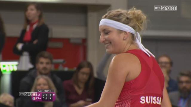 T. Bacsinszky (SUI) - K.Mladenovic (FRA)7-6: La Suisse remporte le tie-break 7-4 [RTS]
