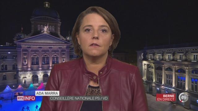 Entretien avec l'artisane de la naturalisation facilitée, Ada Marra à Berne [RTS]
