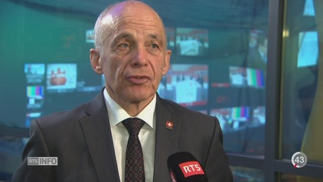 Une journée douloureuse pour Ueli Maurer, le Ministre des Finances [RTS]