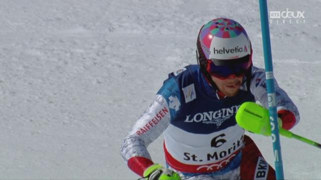Mondiaux de St-Moritz, combiné, 2e manche: Luca Aerni (SUI) [RTS]