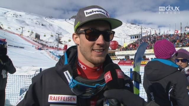 Mondiaux de St-Moritz, combiné, 2e manche: l'interview de Luca Aerni (SUI) [RTS]