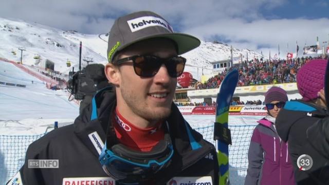 Ski - St-Moritz: Luca Aerni a créé la sensation aux Mondiaux de St-Moritz [RTS]