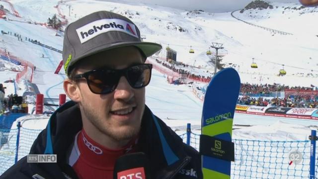 Ski - St-Moritz: Luca Aerni apporte sa troisième médaille d'or à la Suisse [RTS]