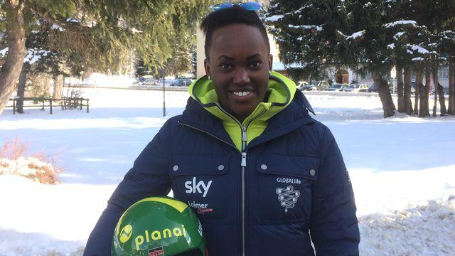 Sabrina Simader est la première Kenyane à participer à des Mondiaux. [Keystone]