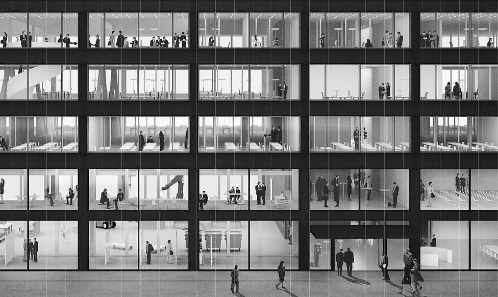 Bureau d architecture bienne repräsentatives büro an zentraler