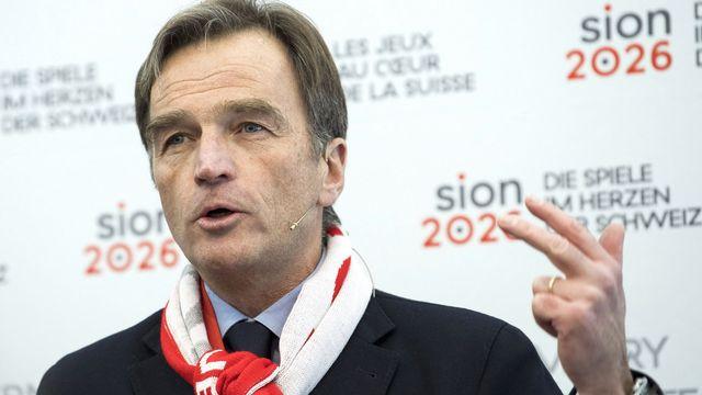 Jean-Philippe Rochat, président du comité Sion 2026. [Peter Schneider - Keystone]