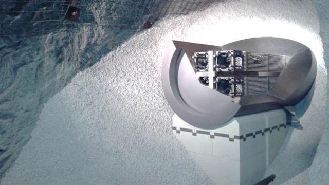 Maquette du tunnel de stockage pour les éléments combustibles usés. Lab. sout. Mt Terri LMS/EPFL [Lab. sout. Mt Terri - LMS/EPFL]
