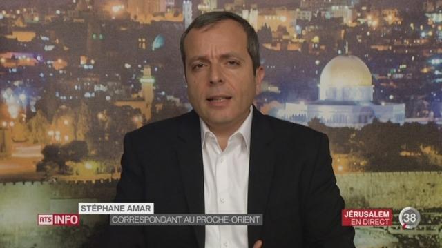 Conférence de presse Netanyahu – Trump: les précisions de Stéphane Amar à Jérusalem [RTS]