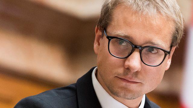 Philippe Nantermod, vice-président du PLR et conseiller national VS. [Anthony Anex - Keystone]