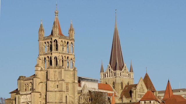La cathédrale de Lausanne. Photo d'archives. [Laurent Gilliéron - Keystone]
