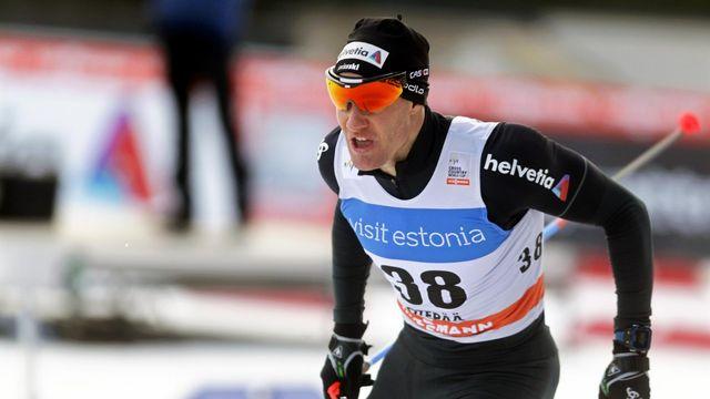 Dario Cologna durant le sprint de Otepää en Estonie le 17 février 2017. [Valda Kalnina - Keystone]