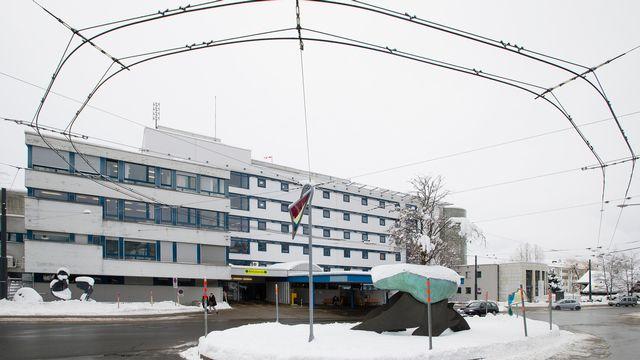L'hôpital de La Chaux-de-Fonds. [Stefan Meyer - Keystone]