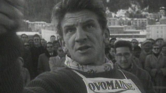 Le skieur Georges Schneider dans les années 50. [RTS]